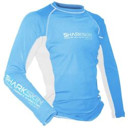 Sharkskin Rapid Dry Long Sleeve Blue/White