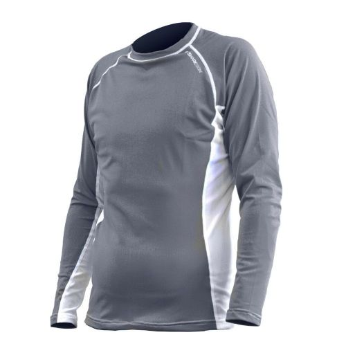 Rapid Dry Long Sleeve Grey/White