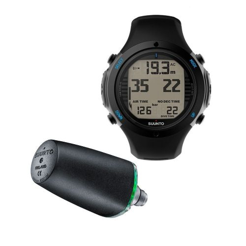 Suunto D6i Wrist Computer (Black) + Wireless Transmitter