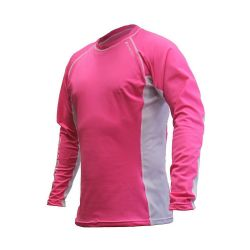 Rapid Dry Long Sleeve Pink/White